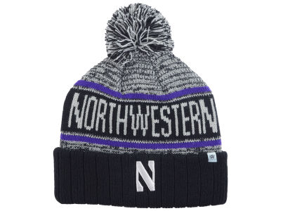 Northwestern Wildcats Top of the World NCAA Acid Rain Pom Knit