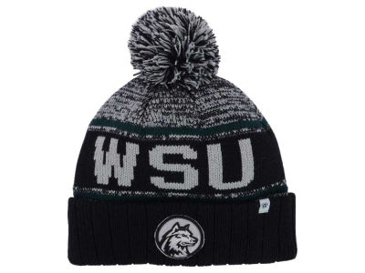 Wright State Raiders Top of the World NCAA Acid Rain Pom Knit