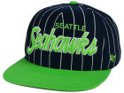 Seattle Seahawks '47 NFL Pintstripe Script '47 CAPTAIN Cap Adjustable Hats