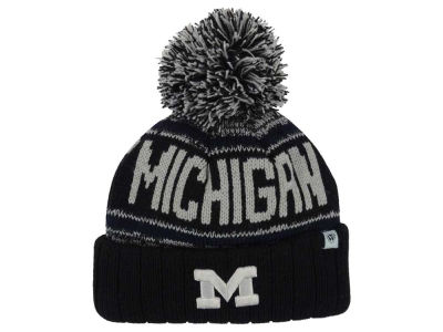 Michigan Wolverines Top of the World NCAA Kids Acid Rain Pom Knit