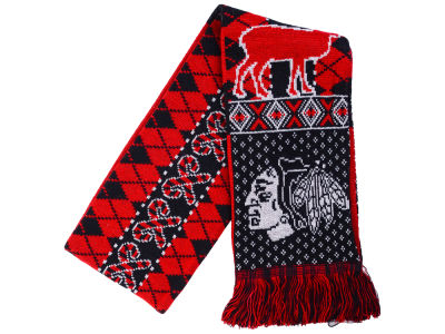 Chicago Blackhawks Forever Collectibles Reversible Reindeer Ugly Scarf