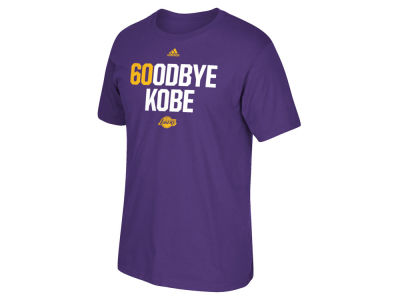 Los Angeles Lakers Kobe Bryant adidas NBA Mens 6OODBYE Kobe T-Shirt