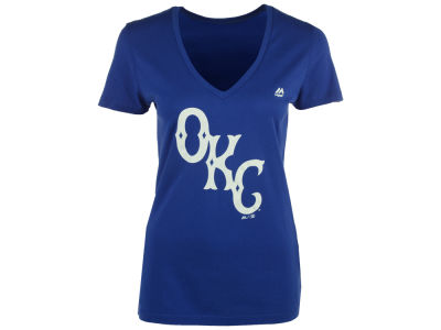 Oklahoma City Dodgers MiLB Women's Primary Club Logo T-Shirt