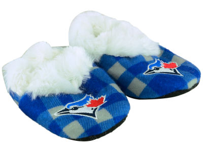 Toronto Blue Jays Flannel Baby Booties