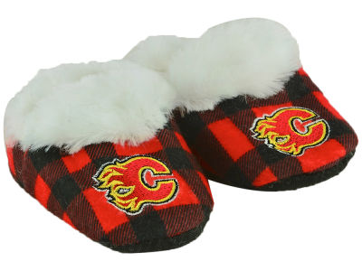 Calgary Flames Flannel Baby Booties