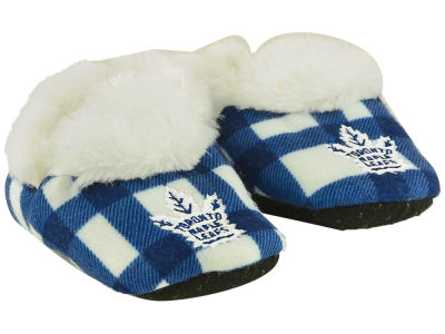 Toronto Maple Leafs Flannel Baby Booties