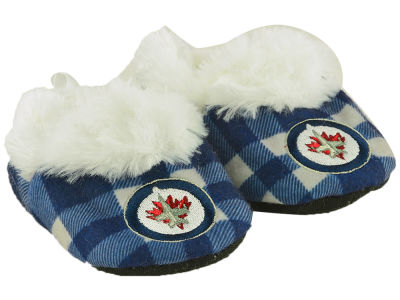 Winnipeg Jets Flannel Baby Booties