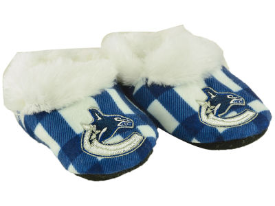 Vancouver Canucks Flannel Baby Booties