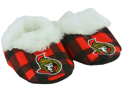 Ottawa Senators Flannel Baby Booties