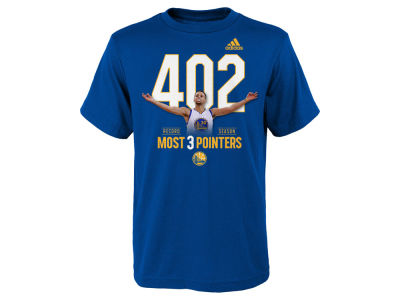 Golden State Warriors Stephen Curry NBA Youth Curry 3Point Record T-Shirt