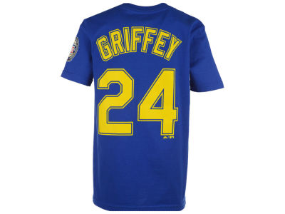 Seattle Mariners Ken Griffey Jr. Majestic MLB Youth Official Player T-Shirt