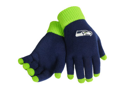 Seattle Seahawks Solid Knit Texting Gloves