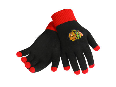 Chicago Blackhawks Solid Knit Texting Gloves