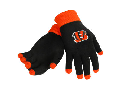 Cincinnati Bengals Solid Knit Texting Gloves