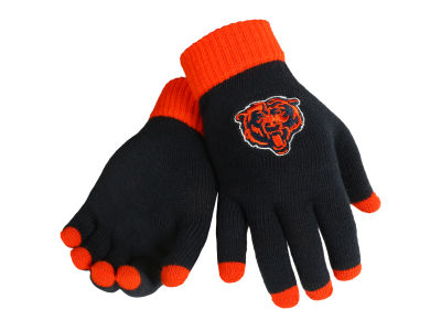 Chicago Bears Solid Knit Texting Gloves