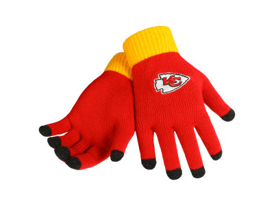 Kansas City Chiefs Solid Knit Texting Gloves