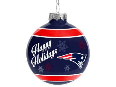 New England Patriots 2017 Glass Ball Ornament