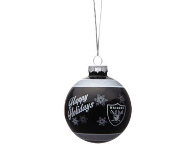 Oakland Raiders 2017 Glass Ball Ornament