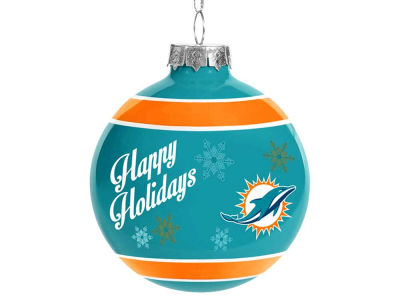 Miami Dolphins 2017 Glass Ball Ornament