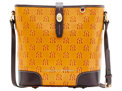 New York Yankees Dooney & Bourke Leather Crossbody Bucket