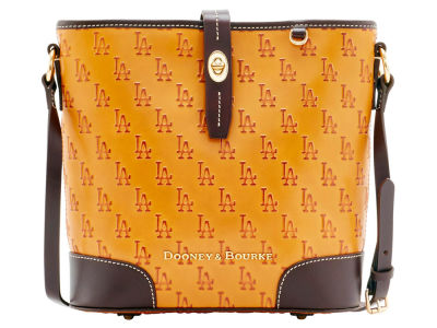 Los Angeles Dodgers Dooney & Bourke Leather Crossbody Bucket