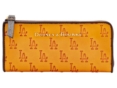 Los Angeles Dodgers Dooney & Bourke Leather Zip Clutch