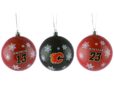Calgary Flames Multi Logo Ornament Set - 3pk
