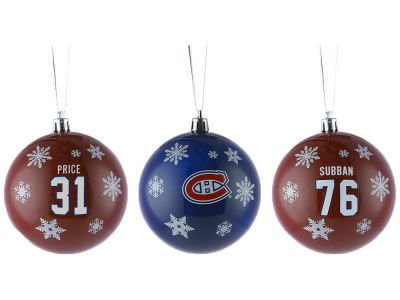 Montreal Canadiens Multi Logo Ornament Set - 3pk