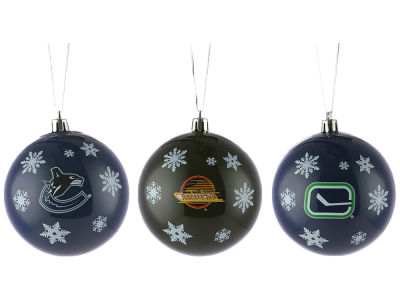 Vancouver Canucks Multi Logo Ornament Set - 3pk