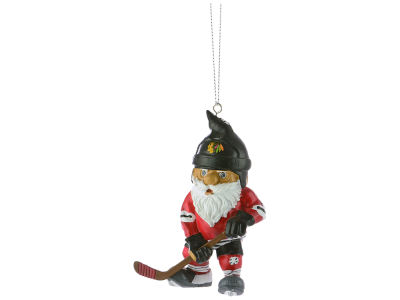 Chicago Blackhawks NHL Action Gnome Ornament