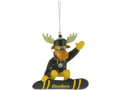 Pittsburgh Steelers Snowbarding Moose Ornament