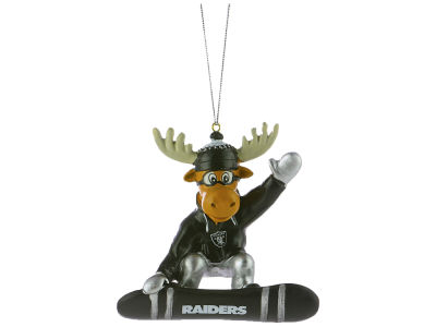 Oakland Raiders Snowbarding Moose Ornament