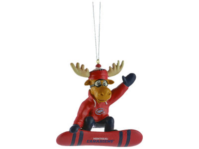 Montreal Canadiens Snowbarding Moose Ornament