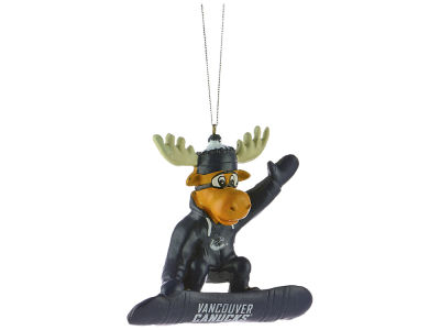 Vancouver Canucks Snowbarding Moose Ornament