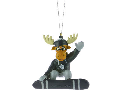 Toronto Maple Leafs Snowbarding Moose Ornament
