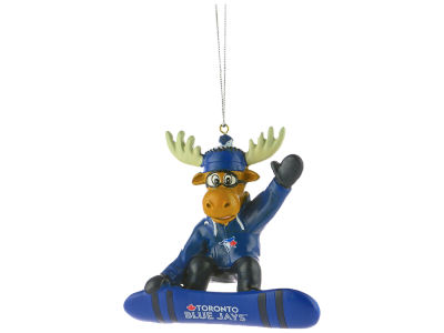 Toronto Blue Jays Snowbarding Moose Ornament