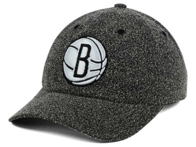 Brooklyn Nets Mitchell and Ness NBA Black and White Static Snapback Cap