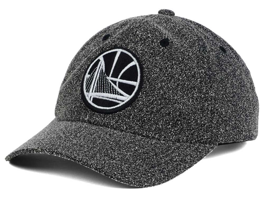 a60c7ce502f Golden State Warriors Mitchell   Ness NBA Black and White Static Snapback  Cap