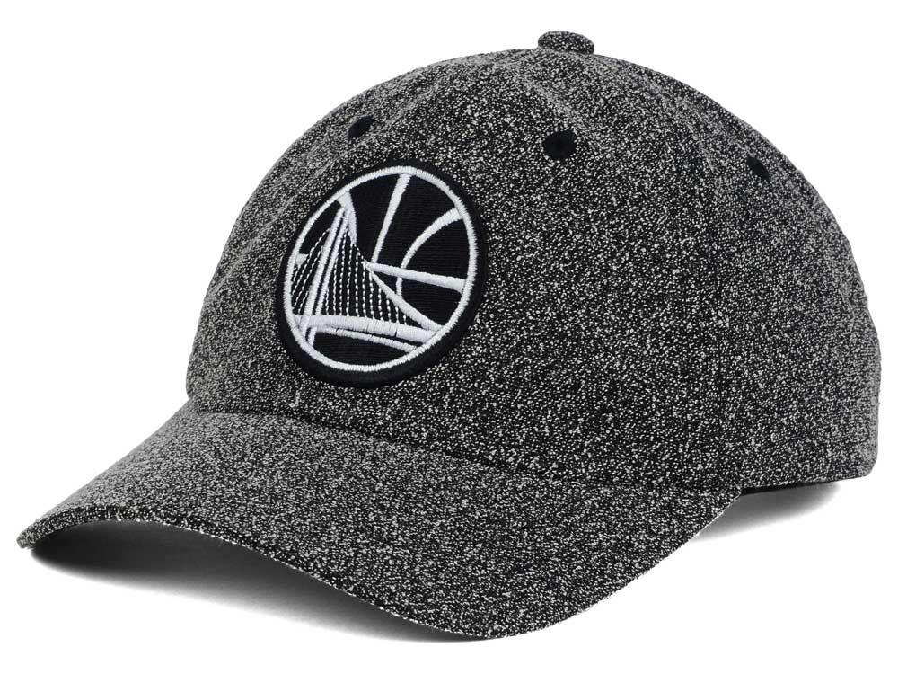 9d9e8b3094e Golden State Warriors Mitchell   Ness NBA Black and White Static Snapback  Cap