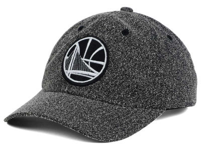 Golden State Warriors Mitchell & Ness NBA Black and White Static Snapback Cap