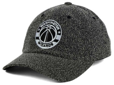 Washington Wizards Mitchell & Ness NBA Black and White Static Snapback Cap