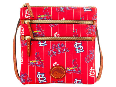 St. Louis Cardinals Dooney & Bourke Nylon Triple Zip Crossbody