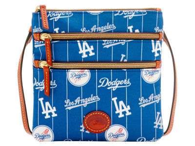 Los Angeles Dodgers Dooney & Bourke Nylon Triple Zip Crossbody
