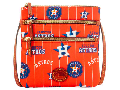 Houston Astros Dooney & Bourke Nylon Triple Zip Crossbody