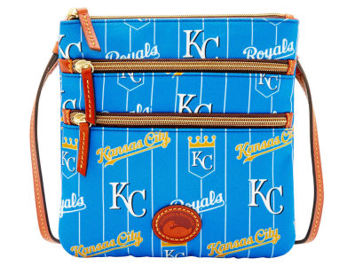 Kansas City Royals Dooney & Bourke Nylon Triple Zip Crossbody