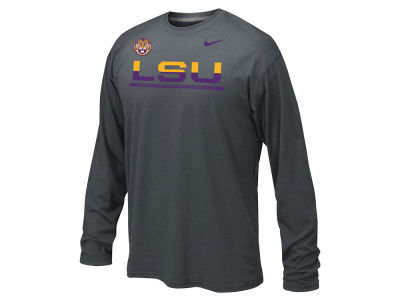 LSU Tigers Nike NCAA Youth Legend Staff Sideline Long Sleeve T-Shirt