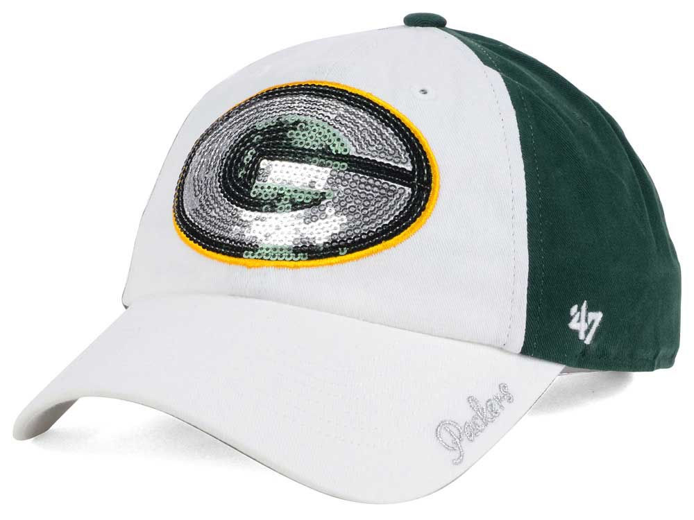 Green Bay Packers  47 NFL  47 Women s White Sparkle Cap  19b92ed27