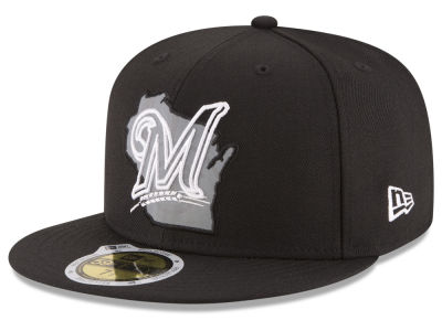Milwaukee Brewers New Era MLB State Reflective Dub 59FIFTY Cap