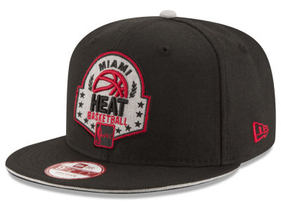 Miami Heat New Era NBA HWC The Heather Patch 9FIFTY Snapback Cap