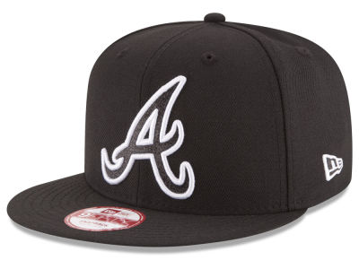 Atlanta Braves New Era MLB Black-Tallic 9FIFTY Snapback Cap